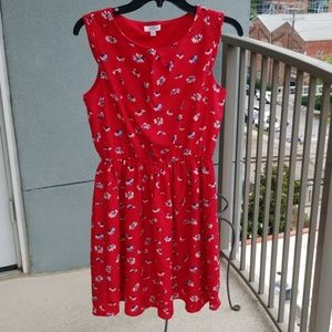 Charming Charlie red flowery dress